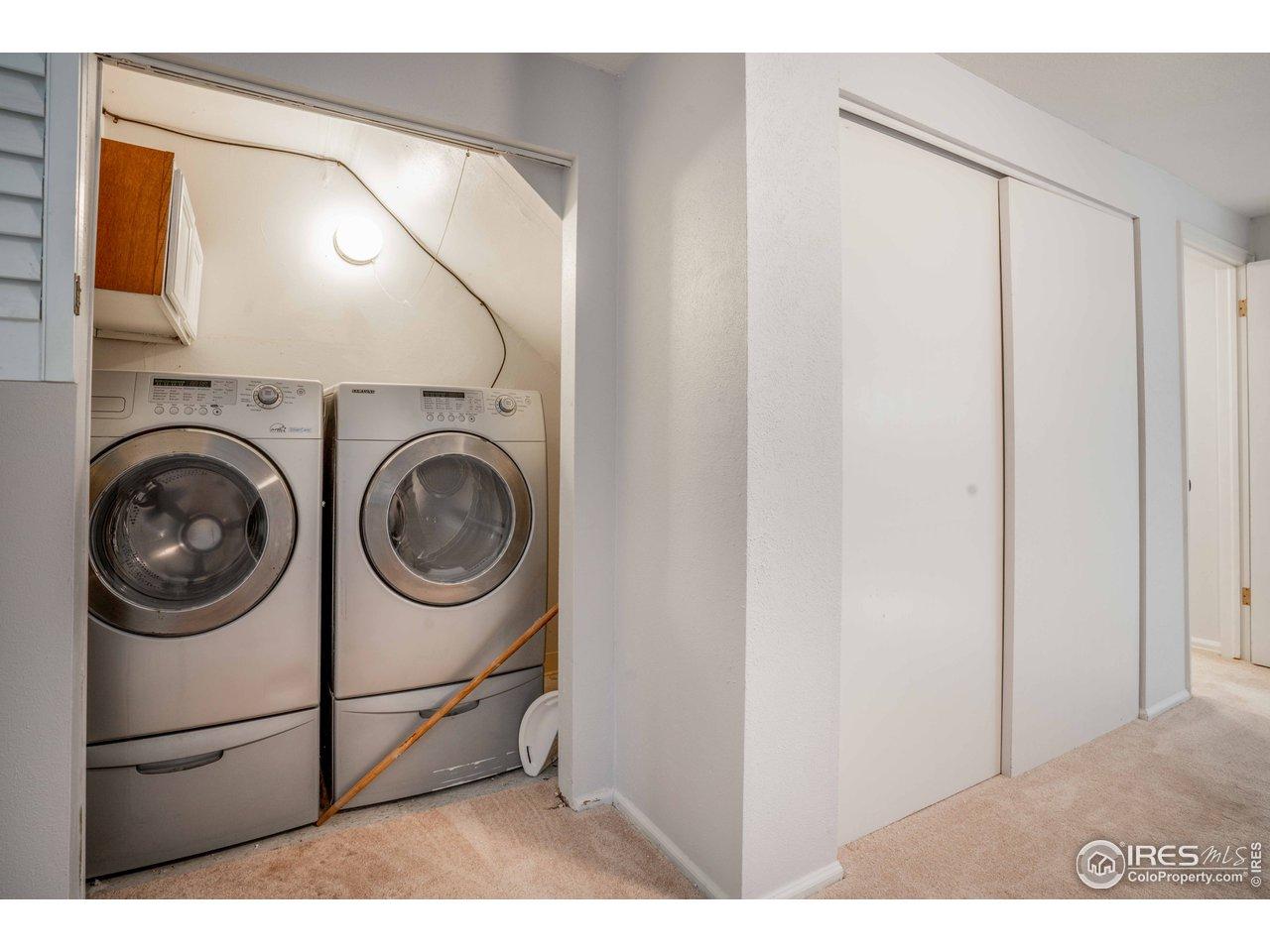 Washer & Dryer Closet