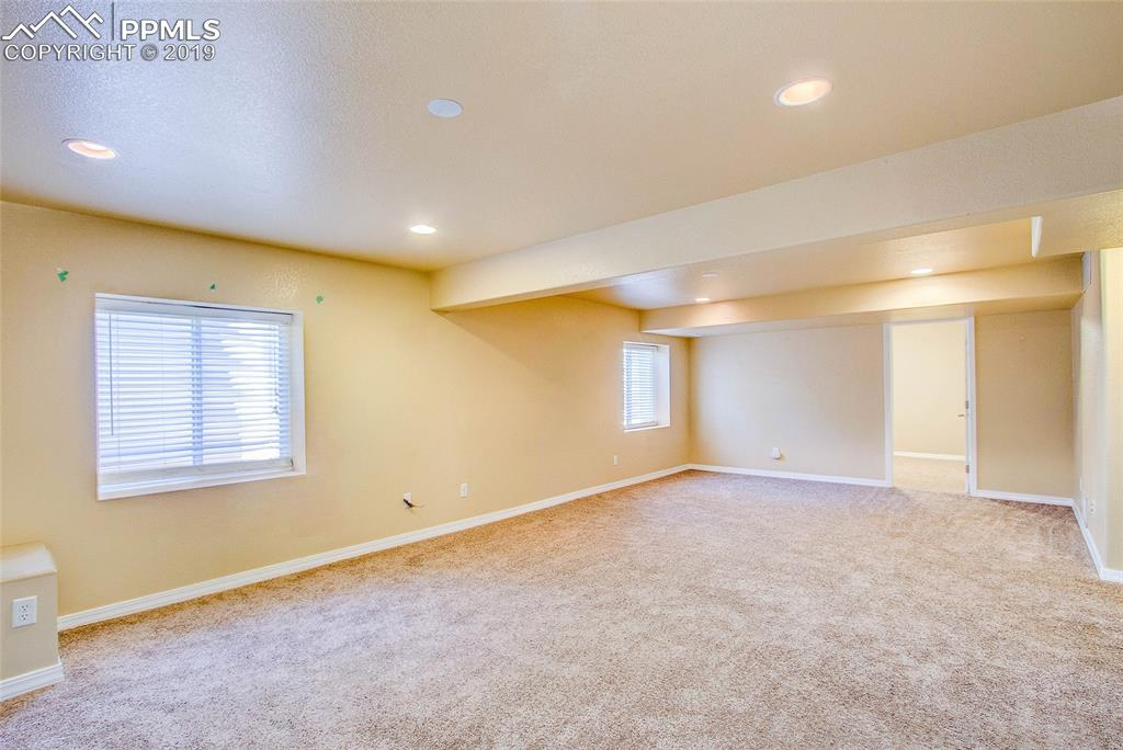 Lower Level Family Room - Carpeted