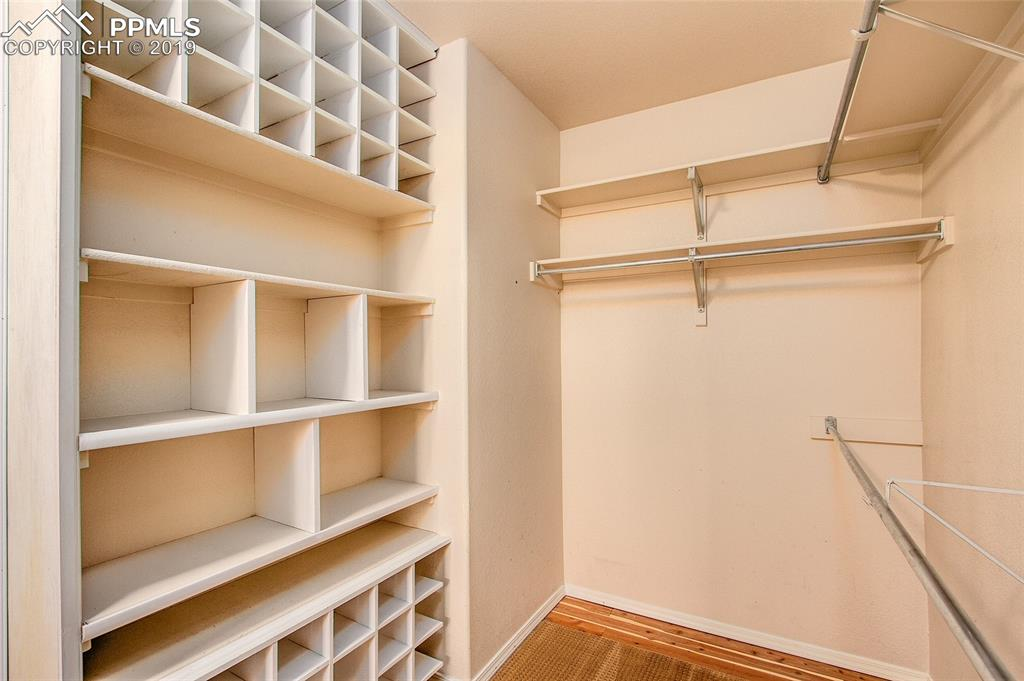 Master Closet with custom cabinets