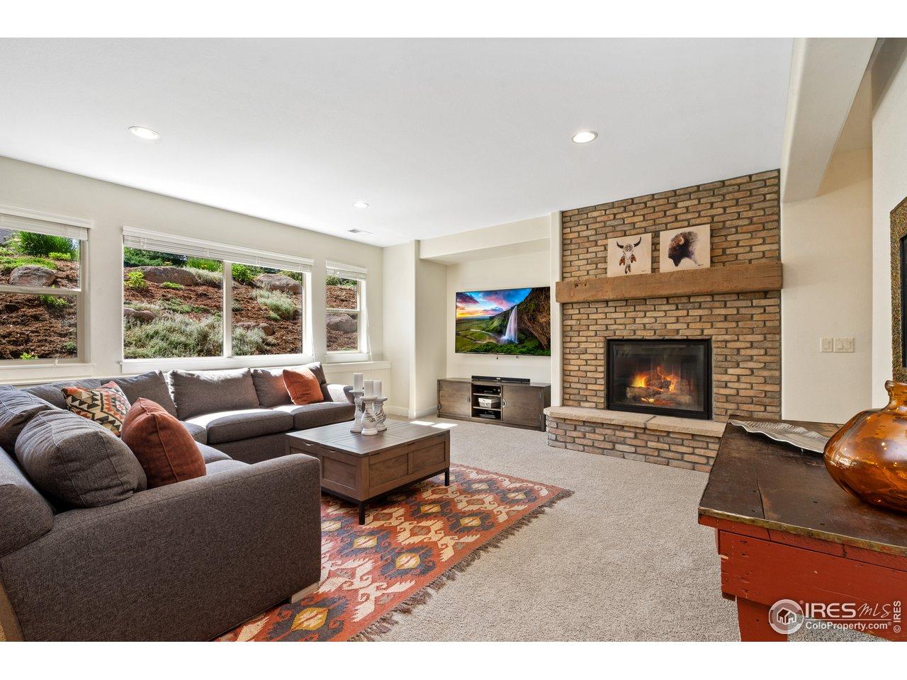 Daylight Basement Living Room