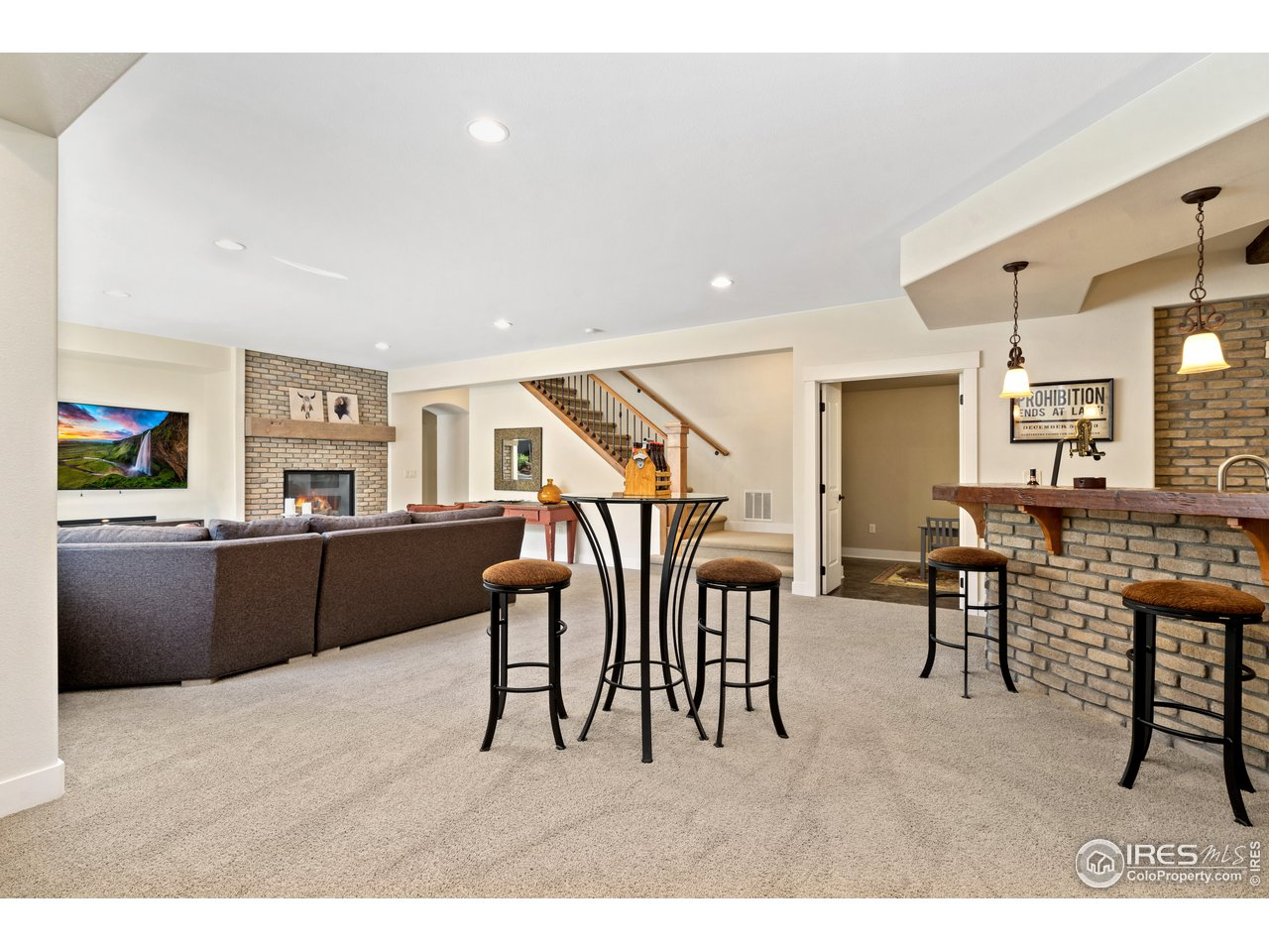 Great Space for Entertaining in Basement