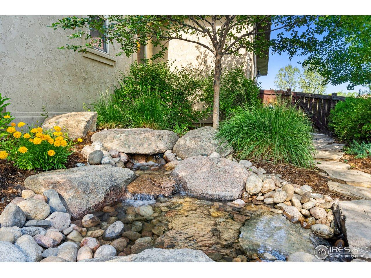 Your own backyard babbling brook