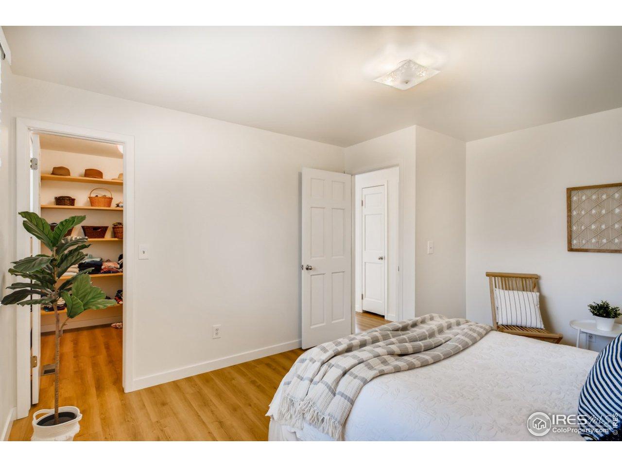 Main bedroom closet view