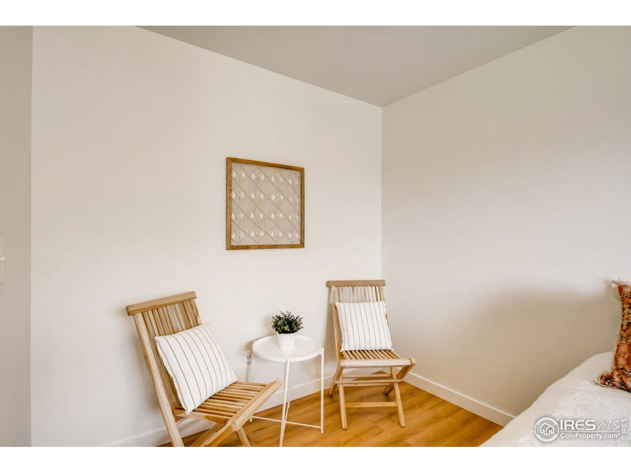 Sitting Nook in Main bedroom