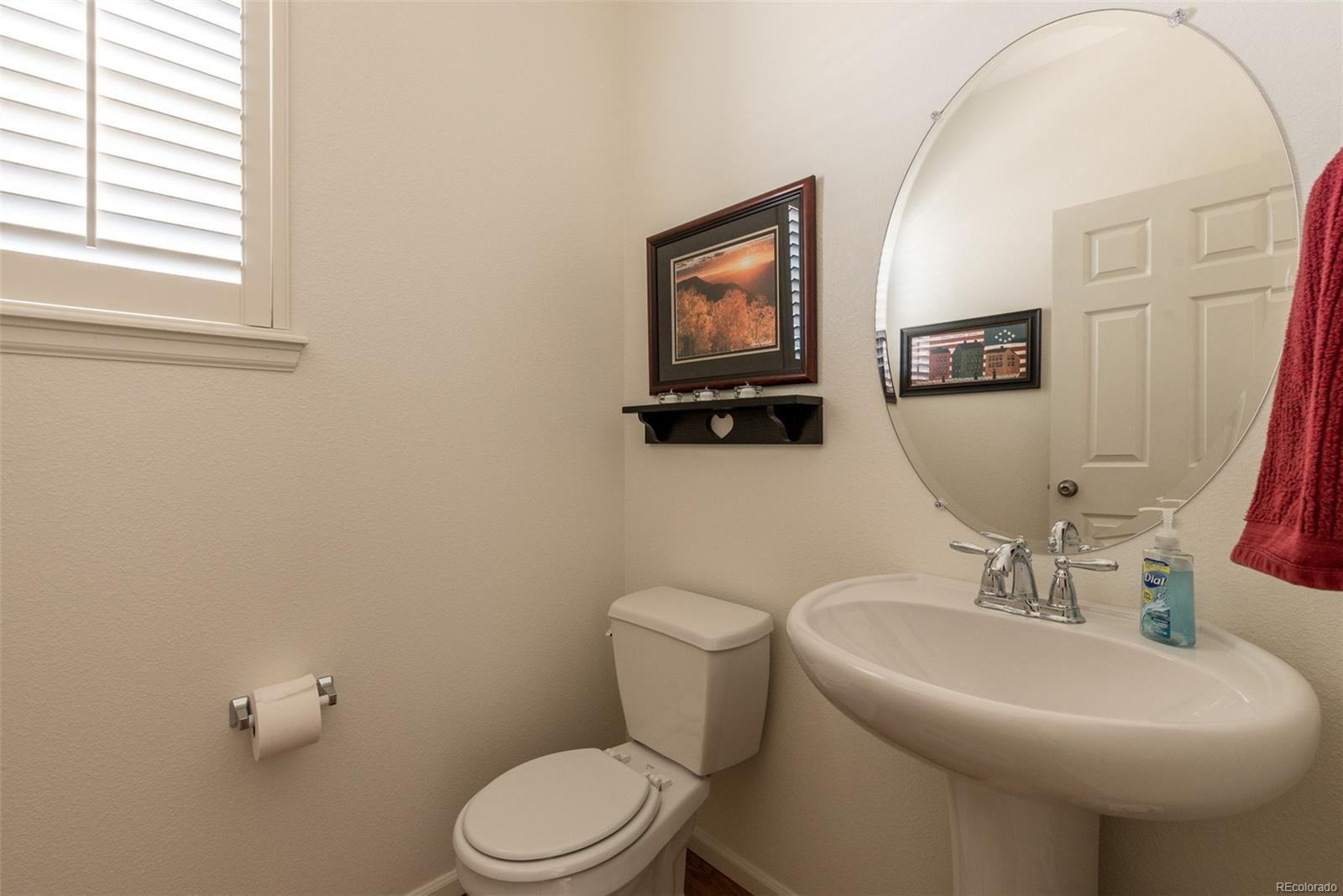 Powder room located on main level