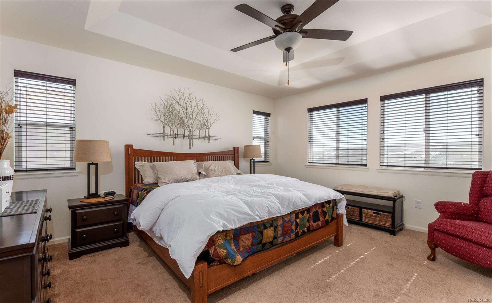 Enjoy the views from the spacious master bedroom