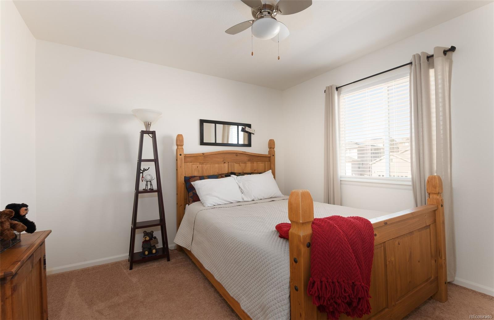 Second bedroom located on upper level.