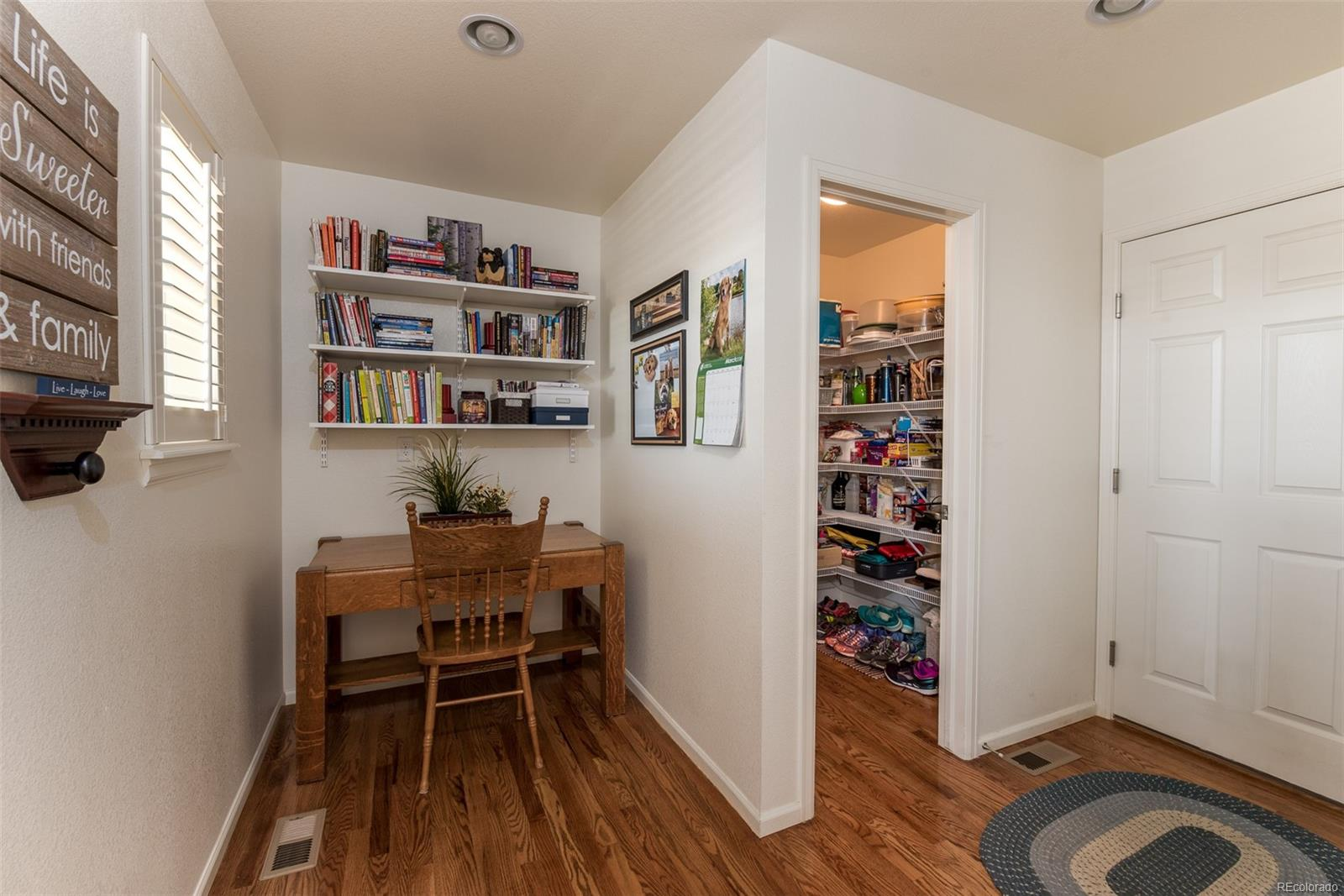 Oversized pantry, Built-in cubbies and coat rack (not pictured) in oversized mud