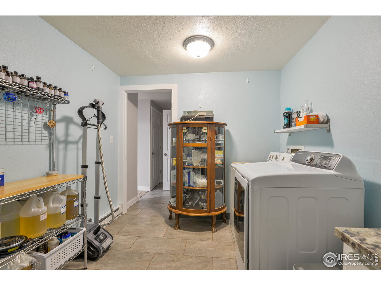 extra large laundry area with storage