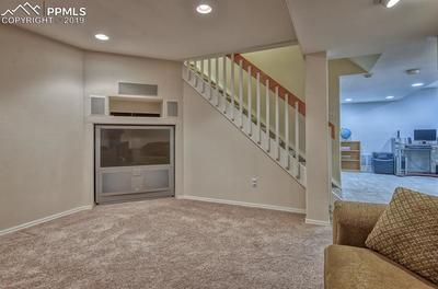 Built-in recessed area with TV (included) is a perfect fit!