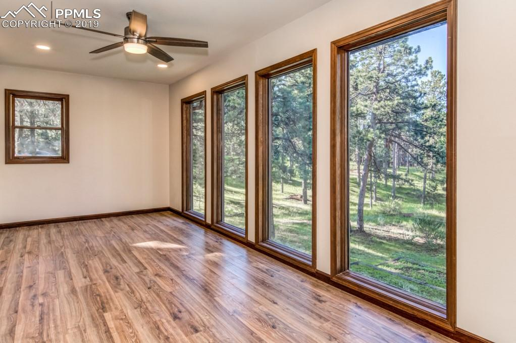 All new dining room with floor to ceiling windows