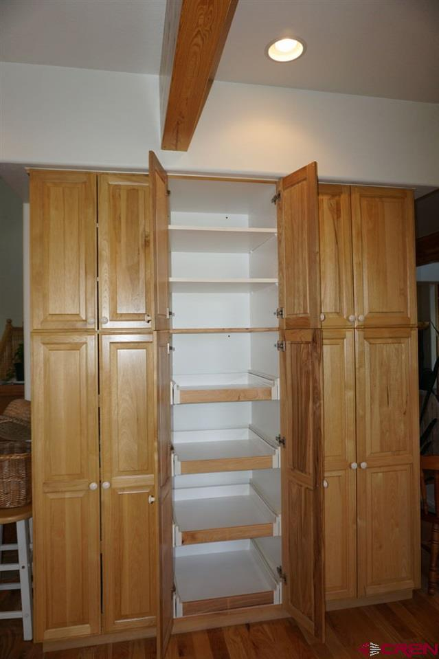 with slide-out shelves