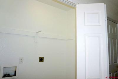 Closet off main floor hallway