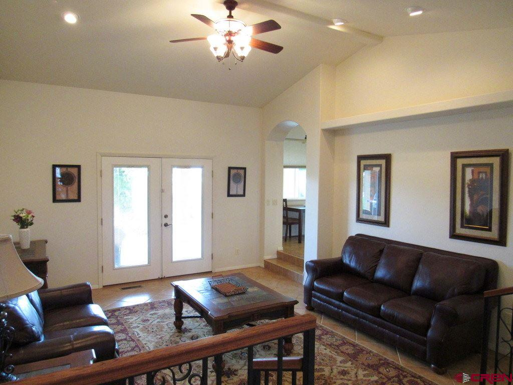 Living Room with Walk-out to Covered Patio