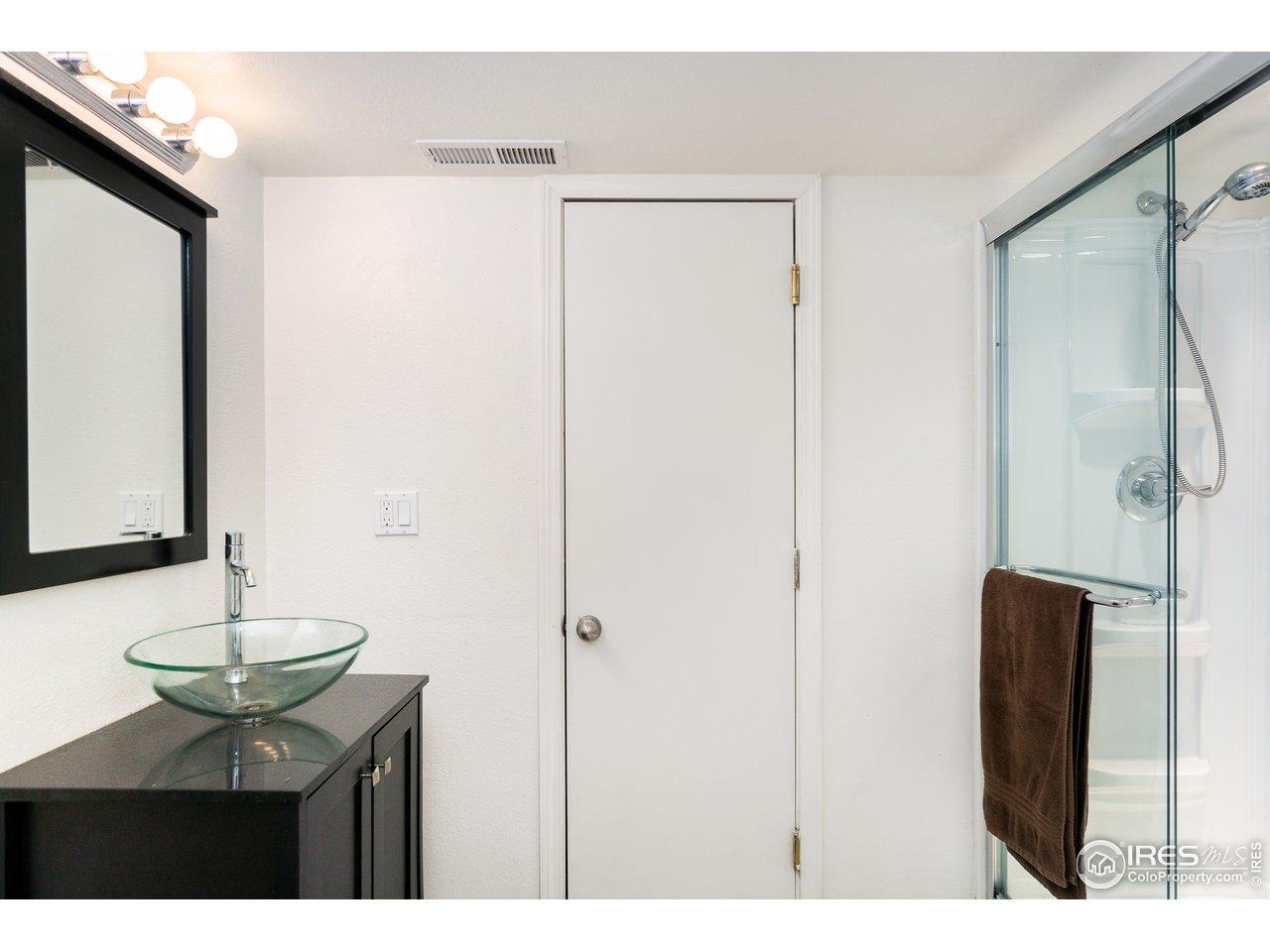Large basement bathroom