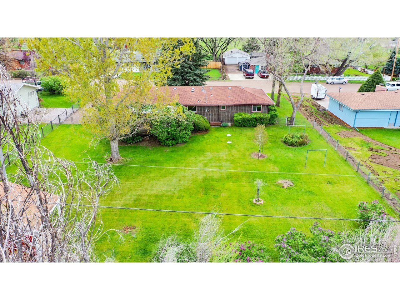 Overhead view of 1/3 acre lot