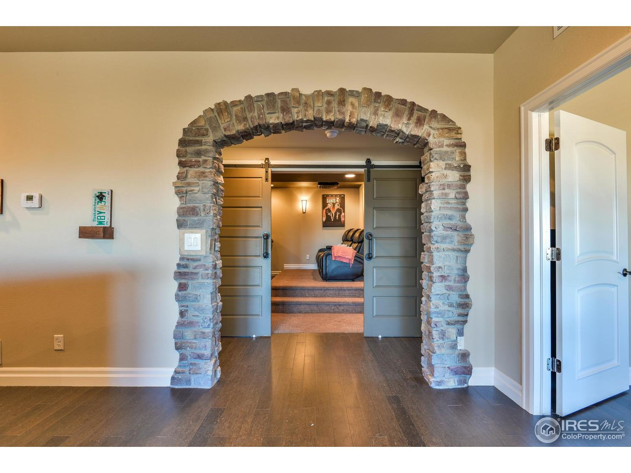 Entry to Basement Theater Room