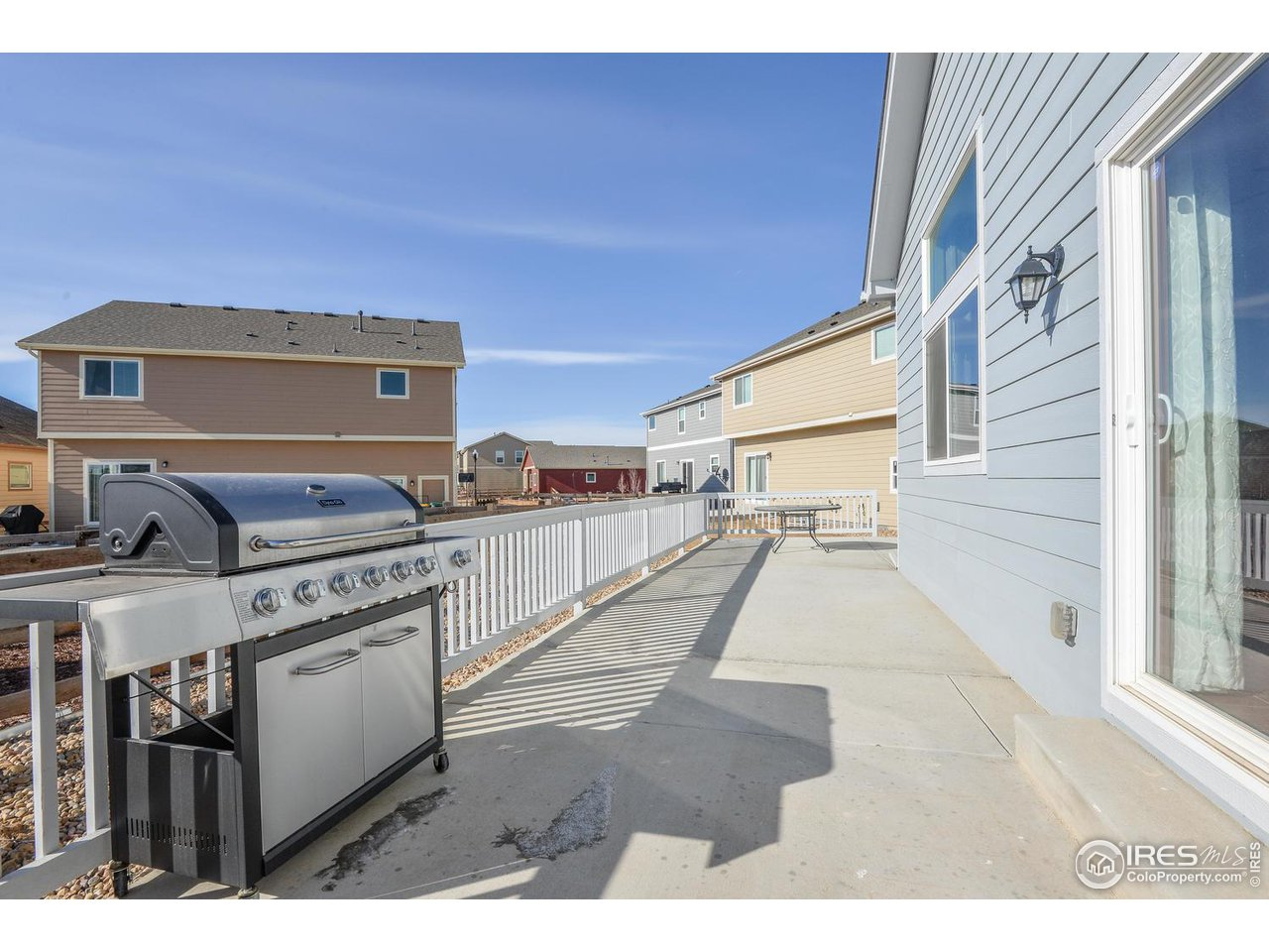 Extended Patio Runs the Length of the Home
