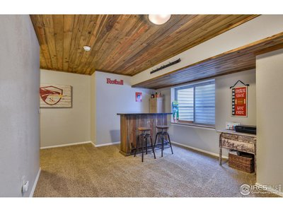 Finished Basement w/ Pine Beetle Ceilings