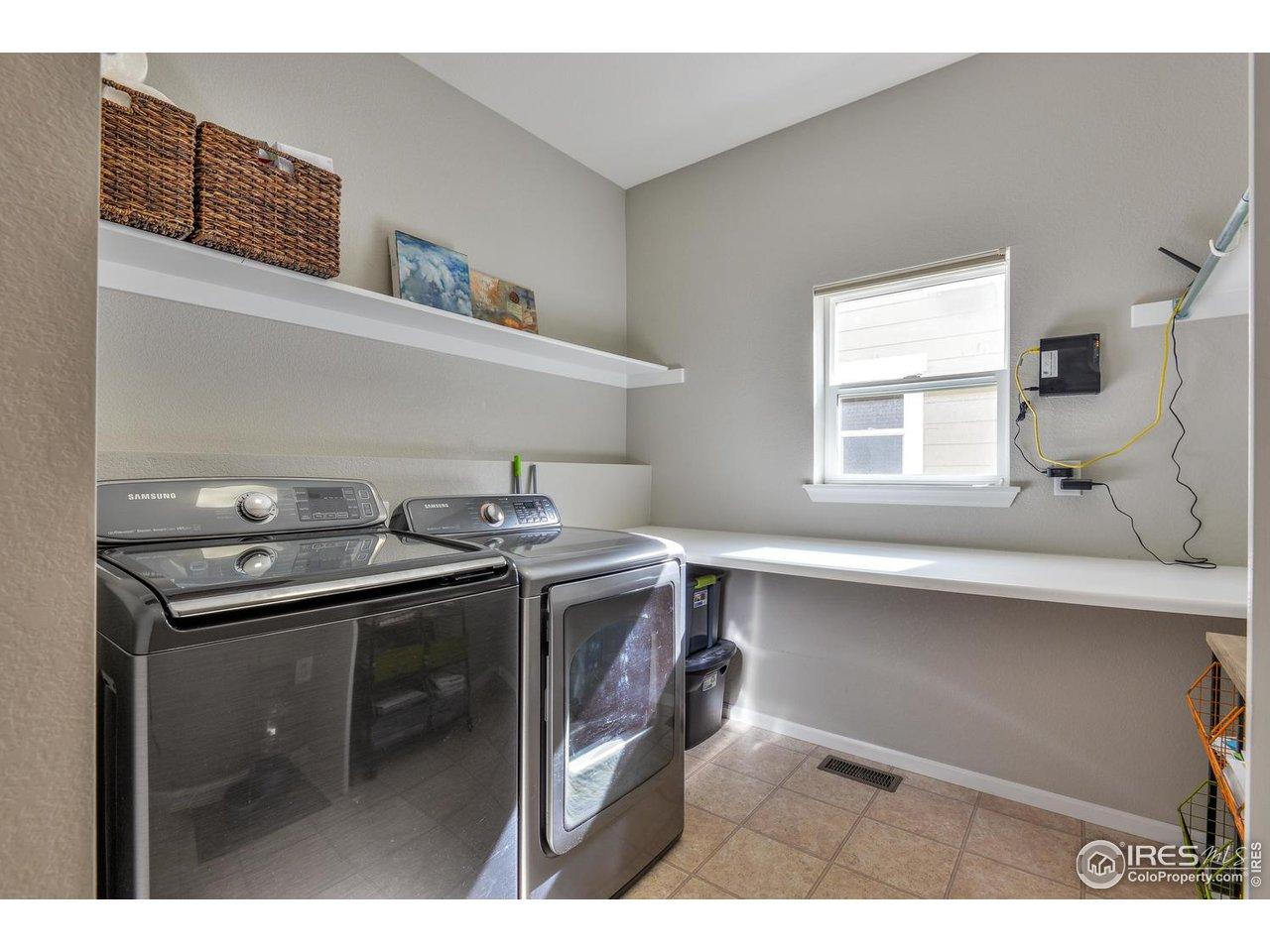 Laundry Room w/ Folding Table