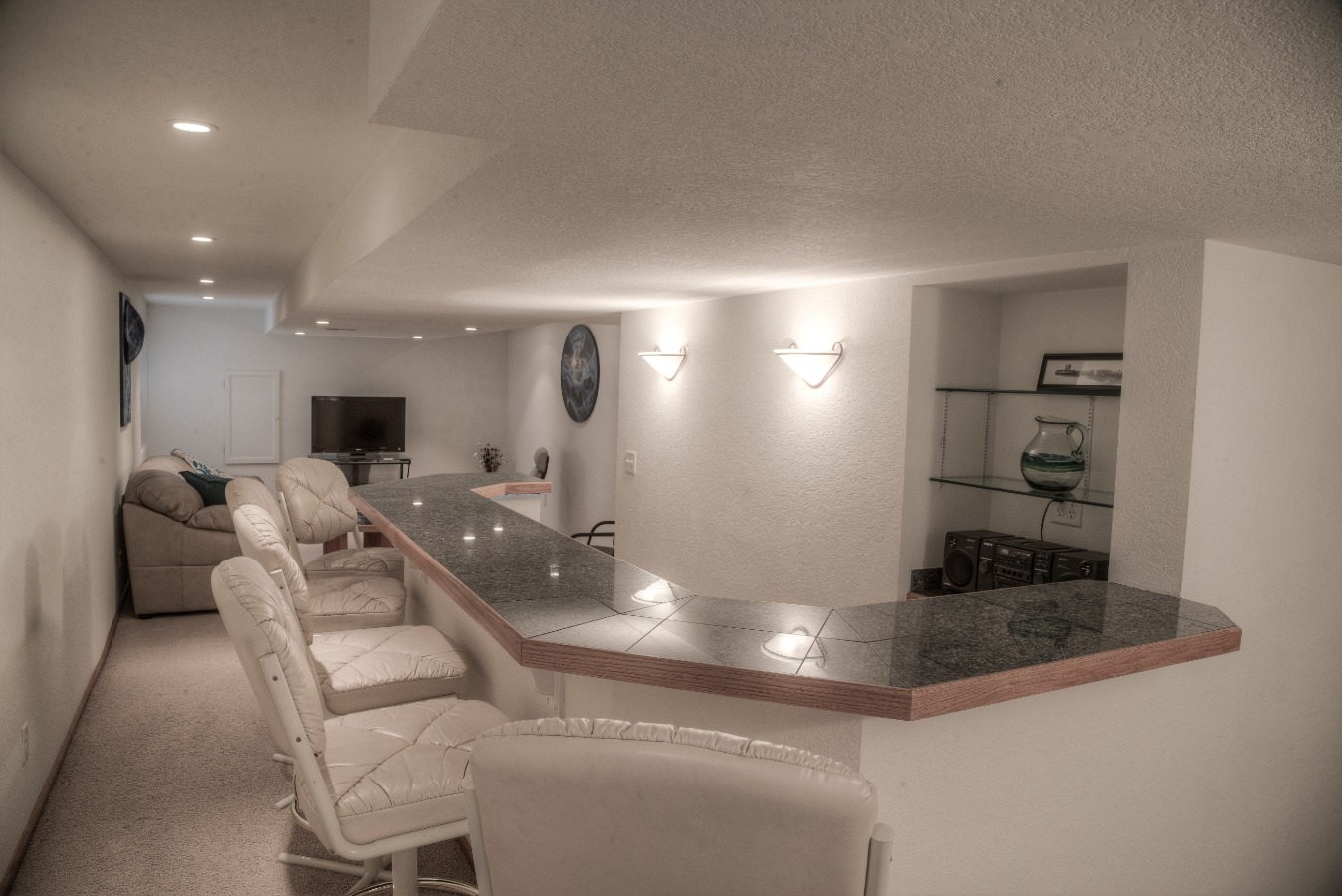 Finished Basement with dry bar