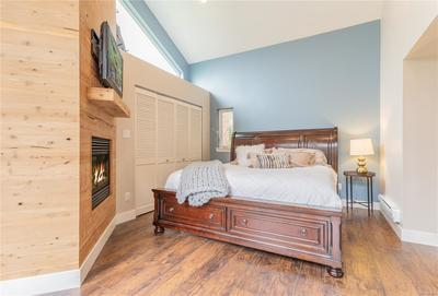 Large Master Suite with ample closet space.