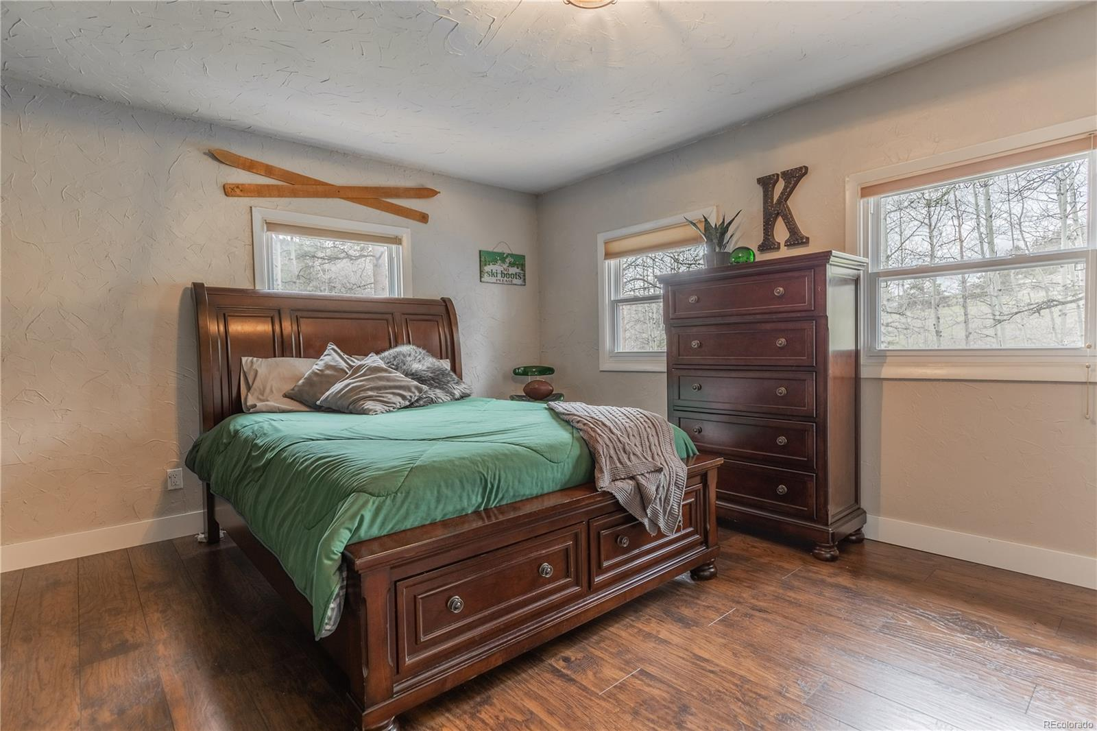 Large secondary bedroom with ample closet space.