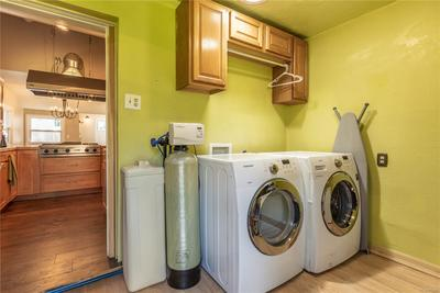 Laundry/Utility Room off of kitchen.