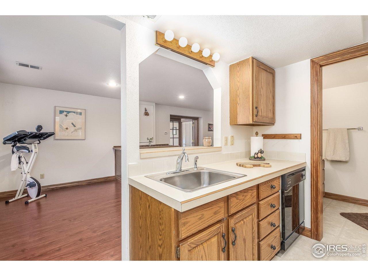 partial kitchen in quarters
