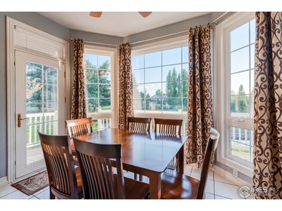 Breakfast nook and bay window