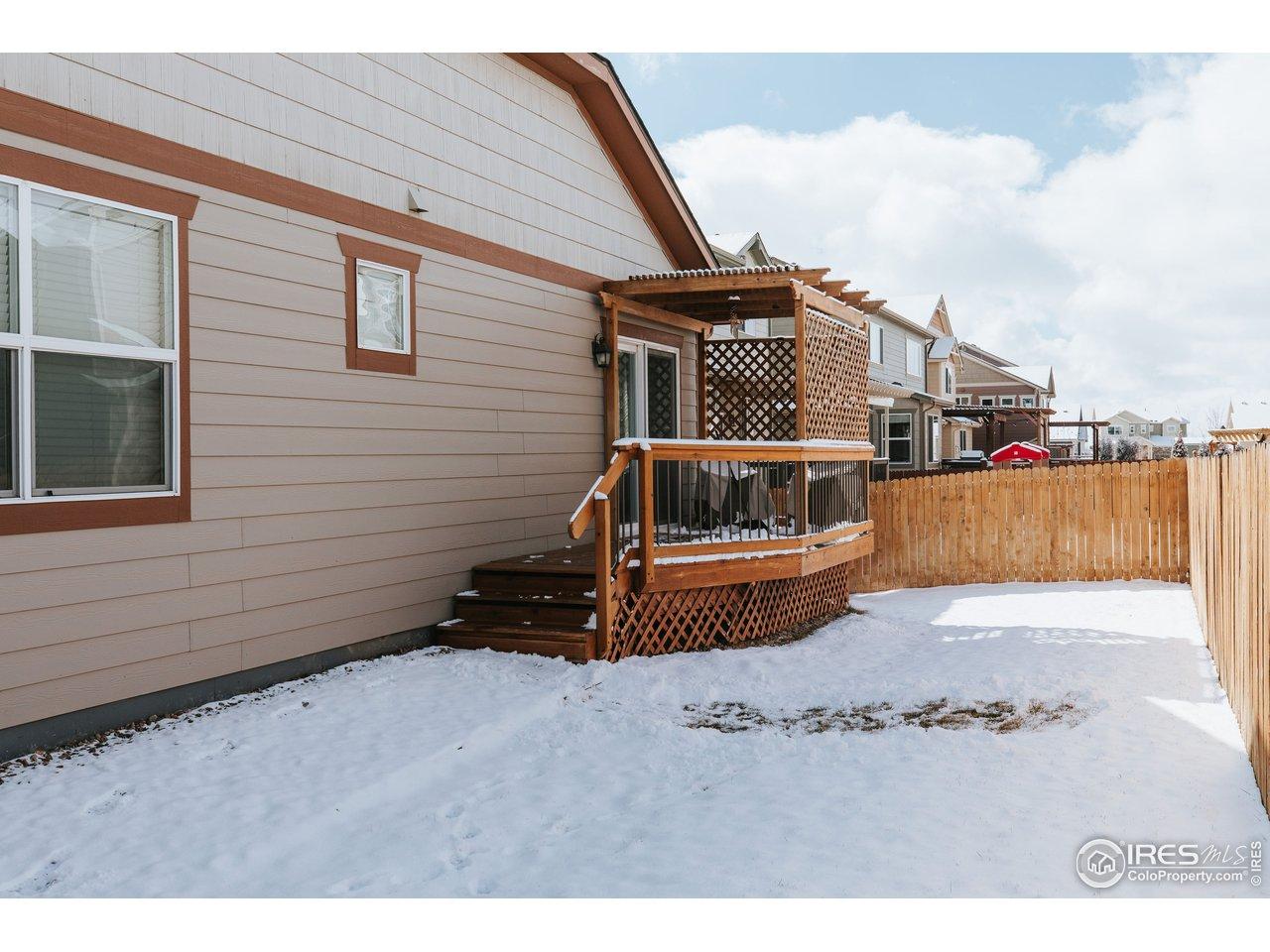 Fenced yard, deck, & pergola