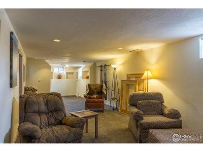 Large basement rec room.