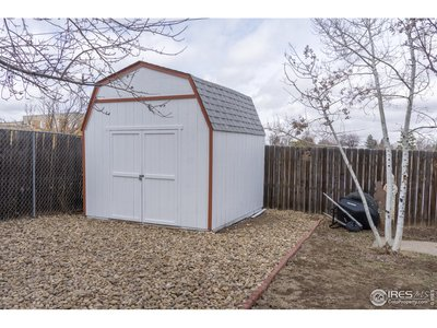 New shed is included.