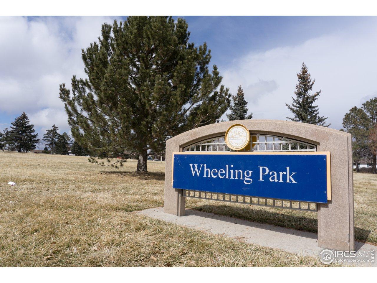 Backs to beautiful Wheeling Park