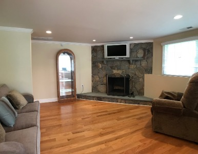 In Law Living Area with Fireplace