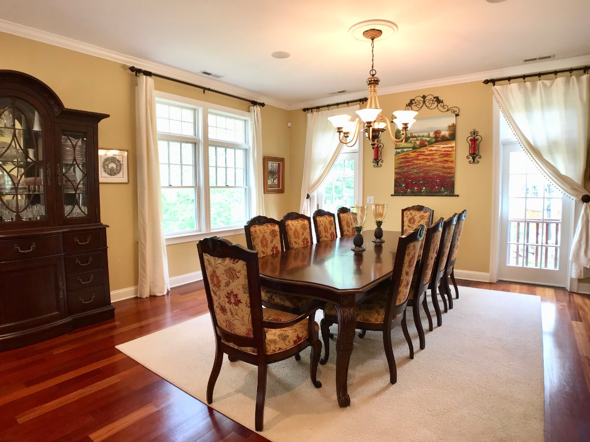High Ceiling with Brazilian Cherry Wood Floors