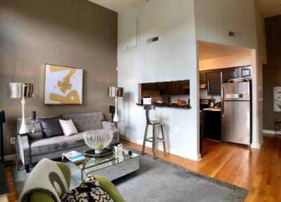 Living Room & Remodeled Kitchen