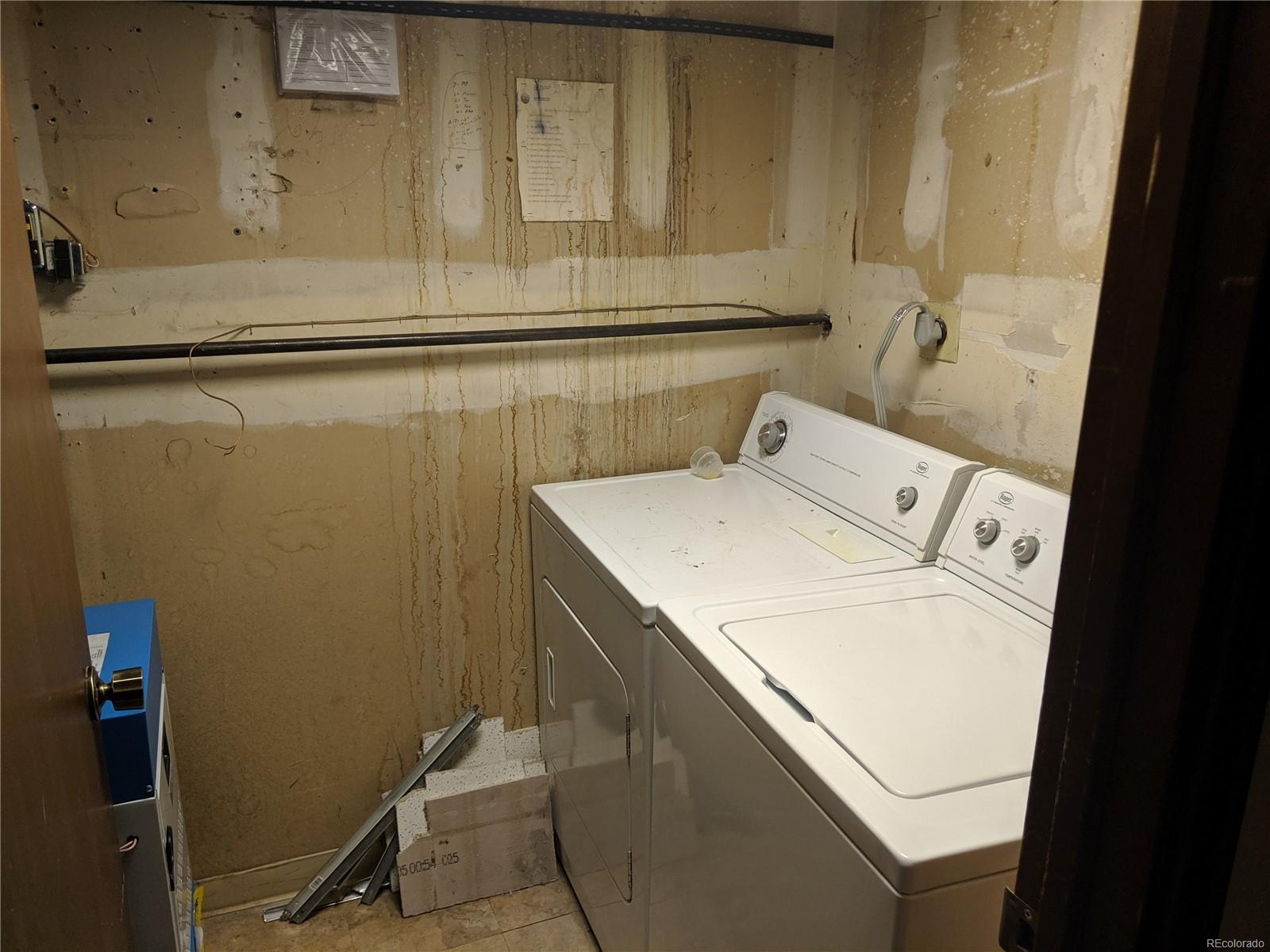 Utility room and laundry room on same level as bedrooms.
