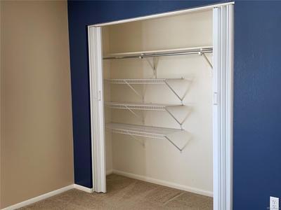Spacious Second Bedroom Closet