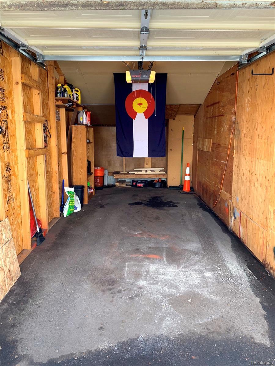 Inside of Garage with Storage