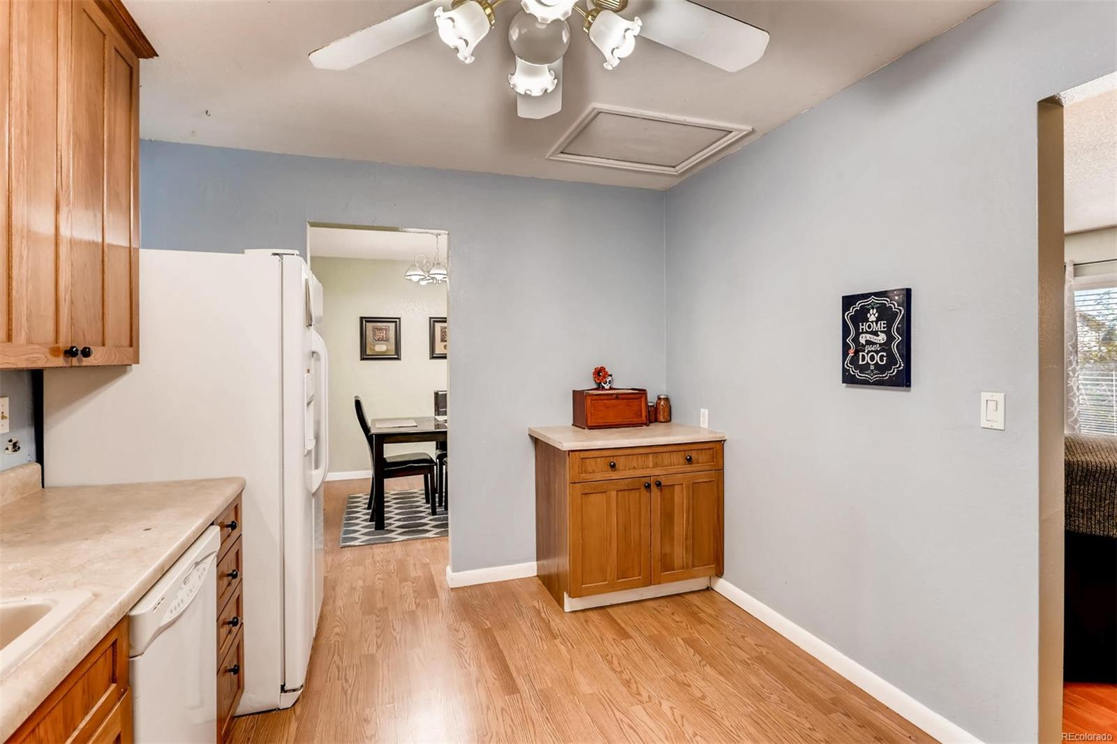 This ample sized kitchen has room for a small breakfast table.