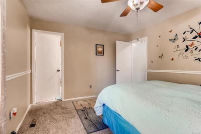 Nice master bedroom with attached bath.