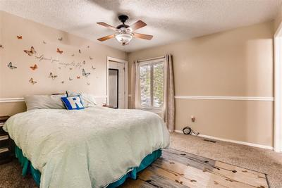 Comfortable master bedroom with plenty of room for your furniture.