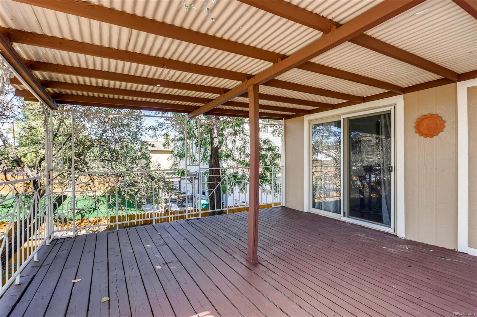 Large covered deck.