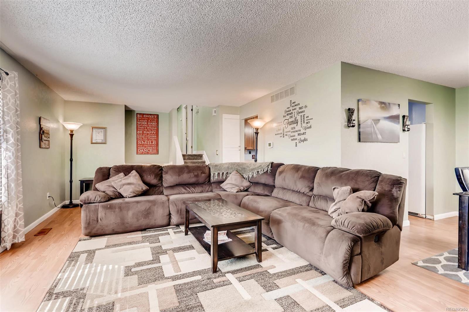 Nice sized living room for entertaining.