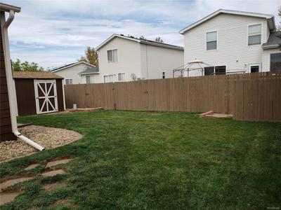 Great storage shed.  fully fenced yard