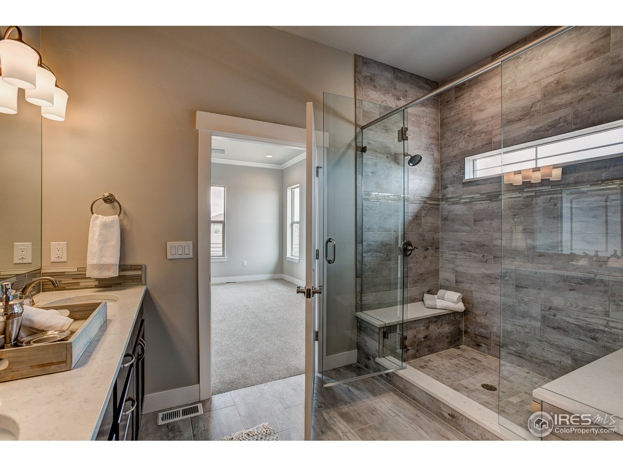 oversized double head shower
