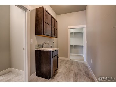laundry off the master closet + walk-in pantry