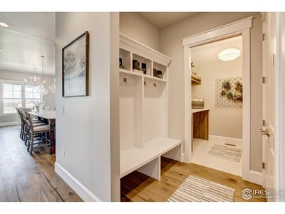 mudroom and laundry off the kitchen