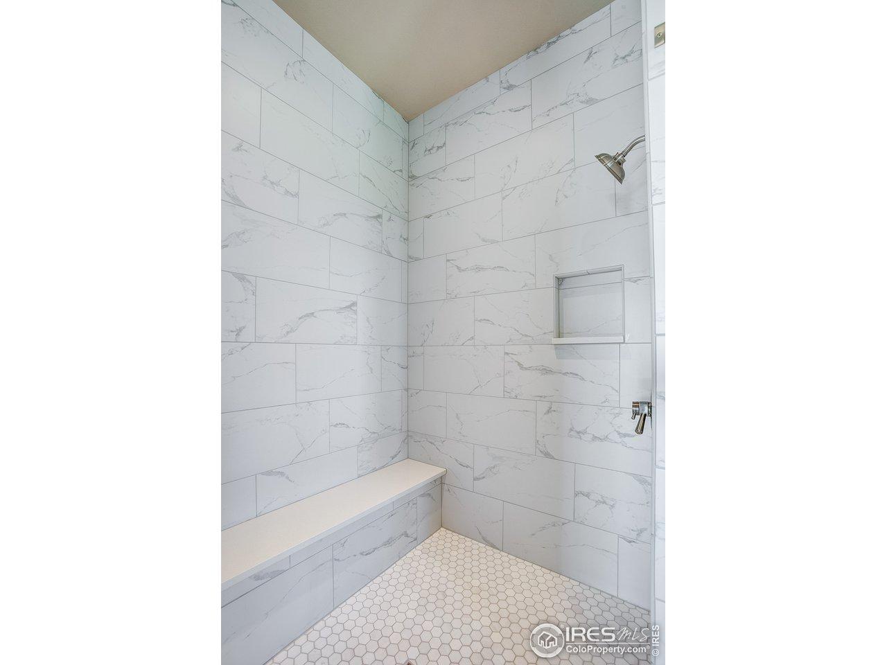 Heated flooring in master bath